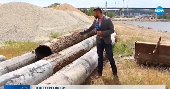 България Ремонтират тръбопровода в района край Варненското езеро Там се