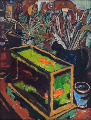 Славка Денева (1929  1984), Аквариума със златните рибки, (двустранна), 60-те г. на ХХ в.