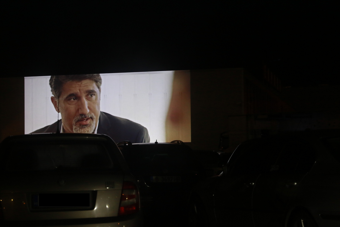<p>Откриването на Pandemic Car Cinema</p>