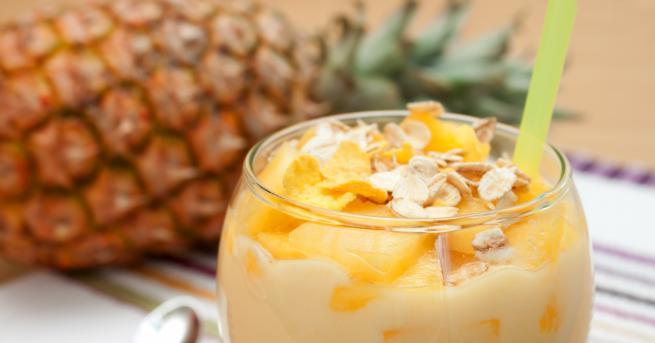 Любопитно Кокосов крем с ананас - лесна и бърза рецепта