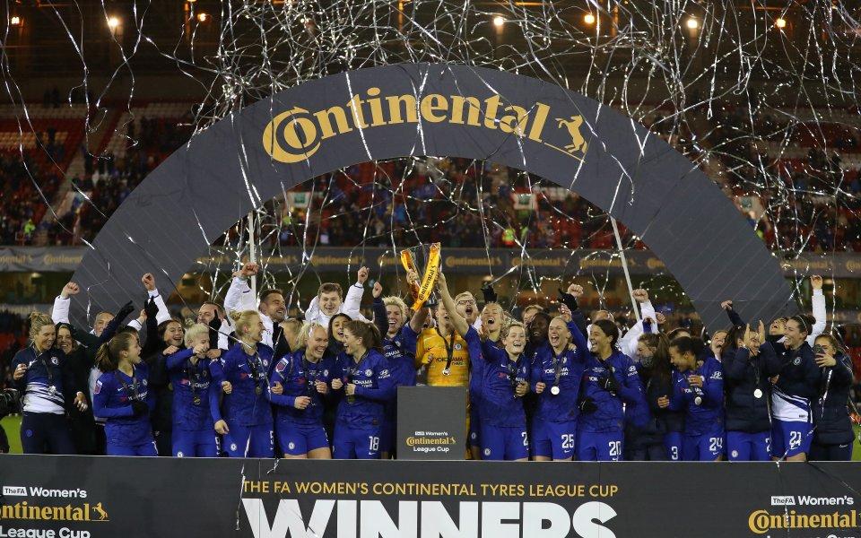 Английската футболна асоциация (ФА) награди Челси с титлата в женската