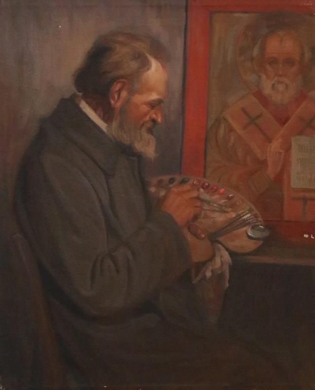 <p>Иконописец</p>  <p>Изложбата и каталогът към нея представят по-голямата част от сбирката в цялото й разнообразие като обхващат маслени картини от Първата световна война, до началото на 70-те години.</p>