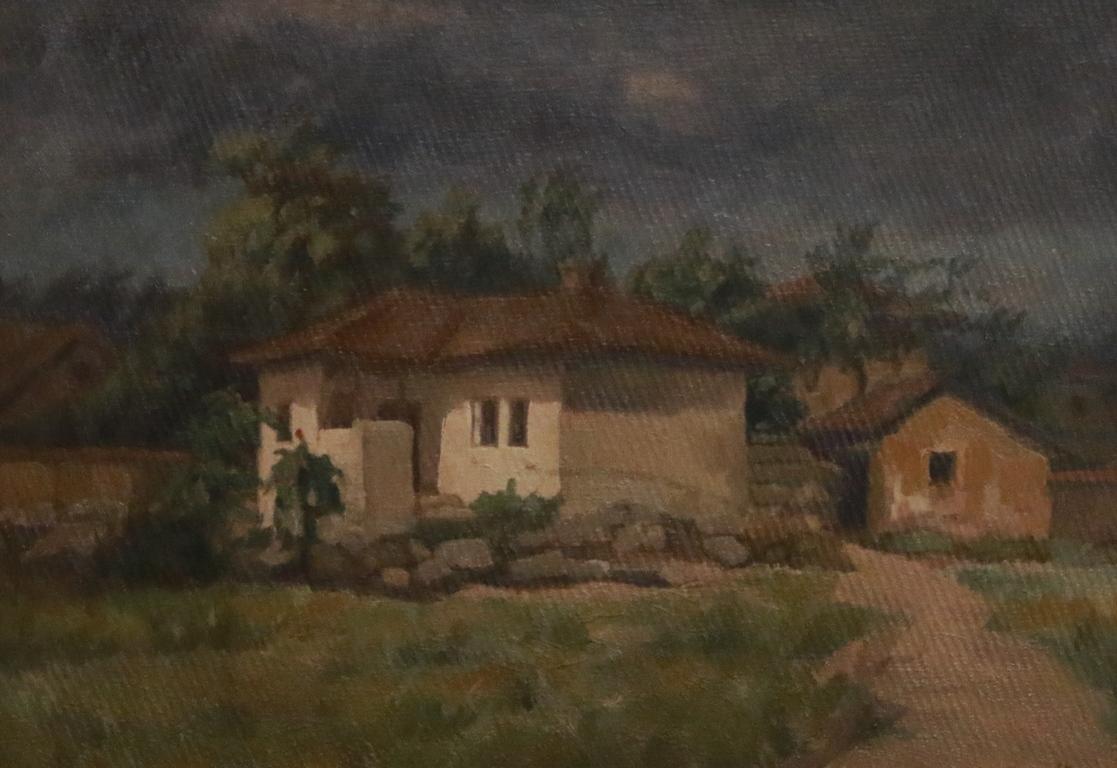 <p>Пейзаж с къщи</p>