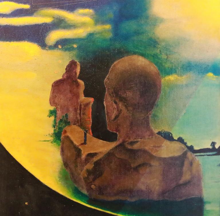 <p>Картините на Мариян Иванов съдържат философската концепция на вярата на един човек в Бога, сътворил видимото и невидимото и неговата интерпретация на това.</p>
