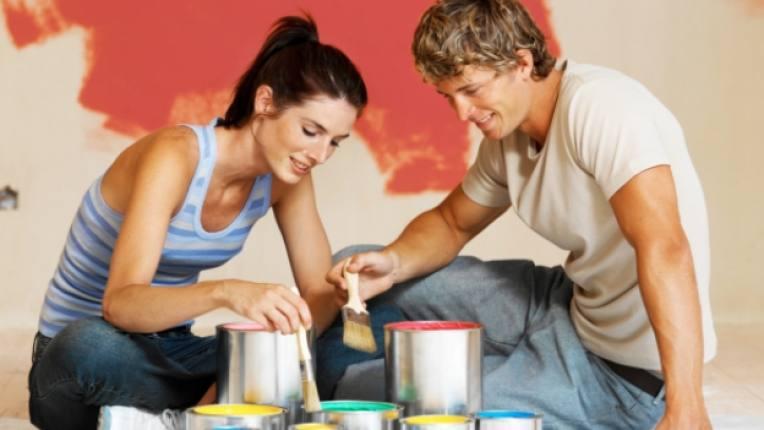 помещение боядисване интериор жилище стая цветове