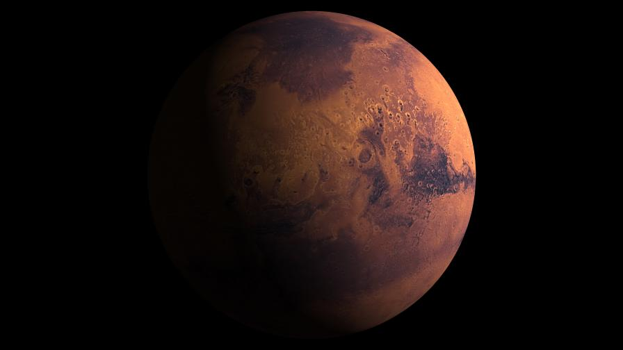 Какво е това зелено сияние на Червената планета