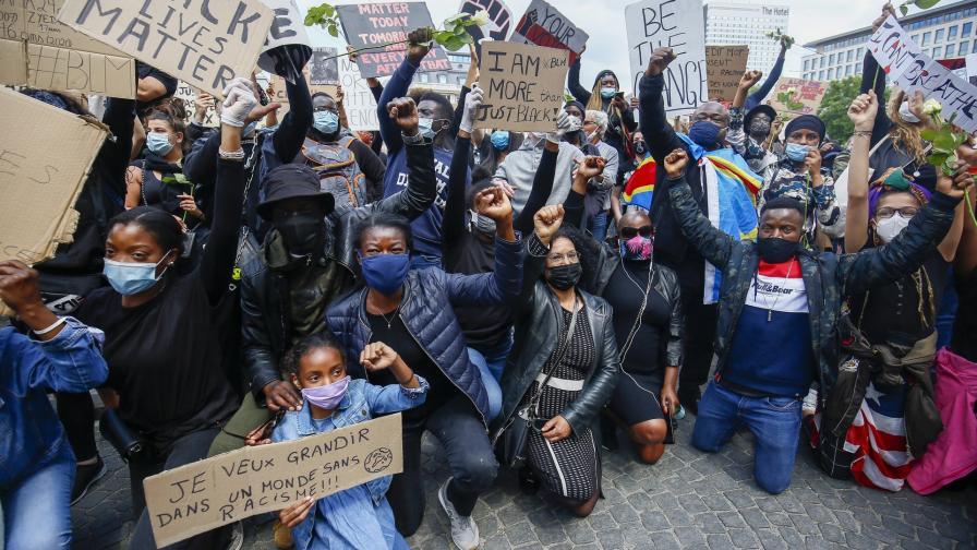 Протест срещу расизма в Белгия
