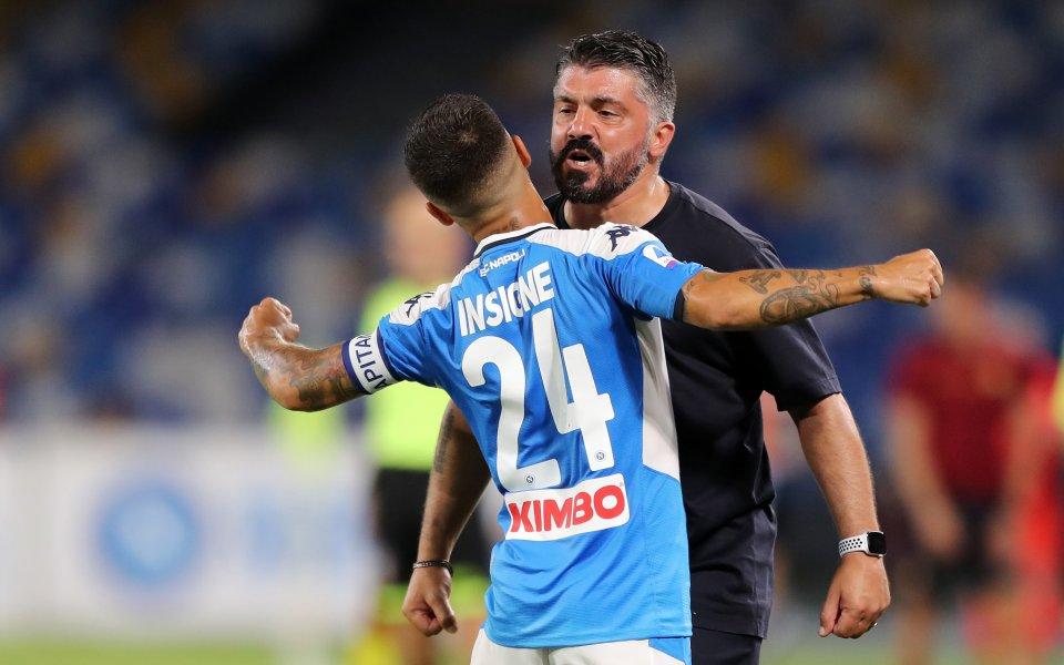 Звездата на Наполи Лоренцо Инсиние похвали старши треньора на тима