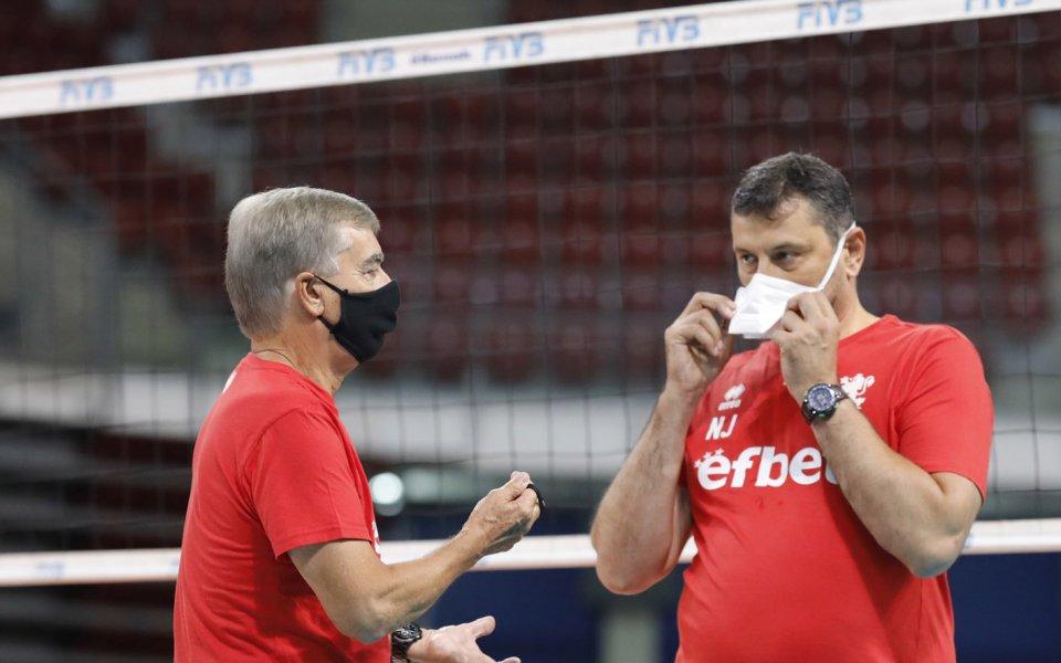 Играчите на националния отбор по волейбол за мъже е изолиран