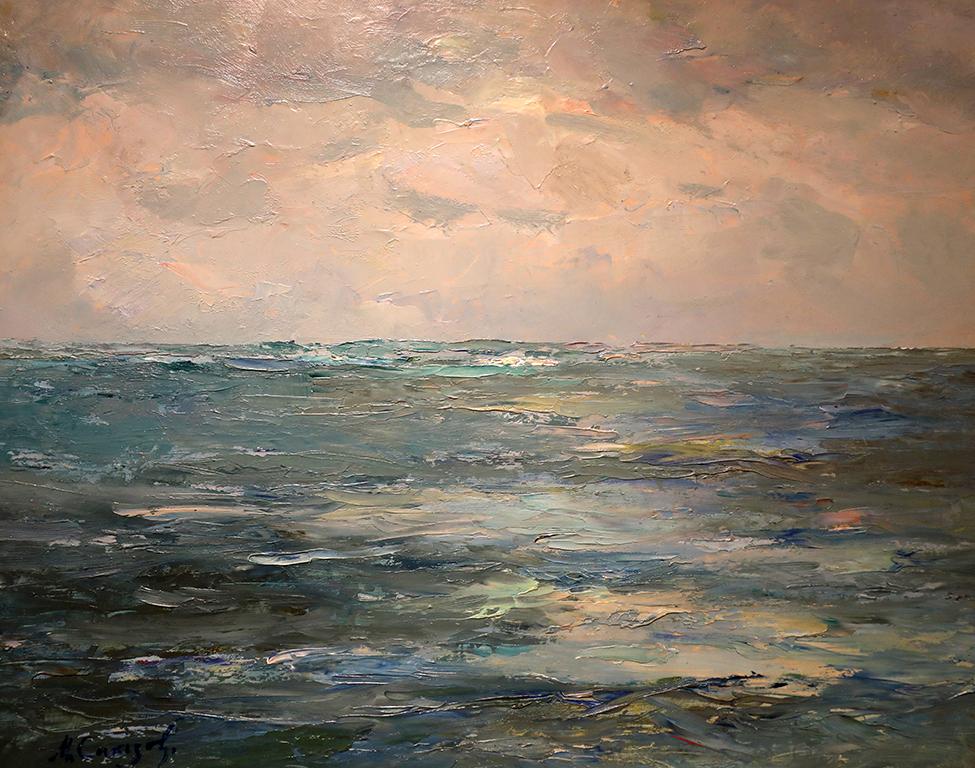 <p>Милен Сакъзов (1903 - 1975)</p>  <p>Море, 50-те г. на ХХ в. маслени бои, картон</p>