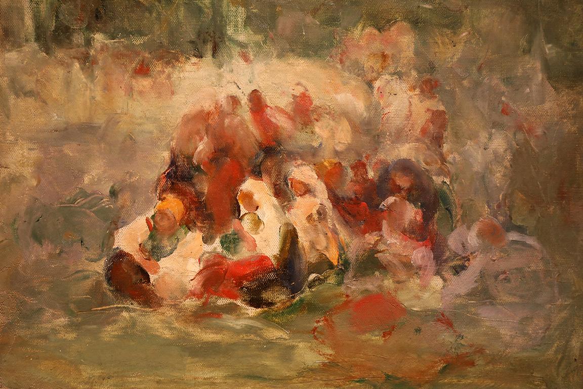 <p>Никола Маринов (1879 - 1948)</p>  <p>Жени, 20-те г. на ХХ в. маслени бои, платно</p>