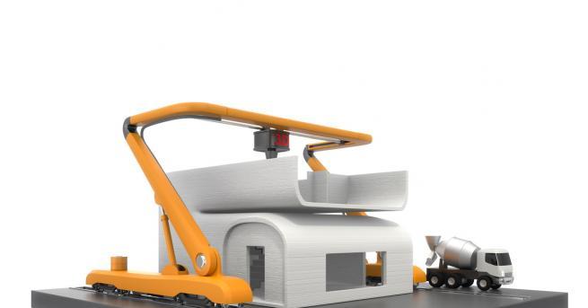 Любопитно Робот построи къща за 48 часа, 1 век гаранция