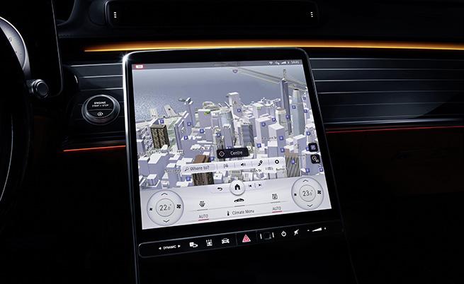 """Големият хоризонтален дисплей на централната конзола вече е вертикален и мнозина побързаха да го сравнят с """"телевизора"""" на Tesla."""