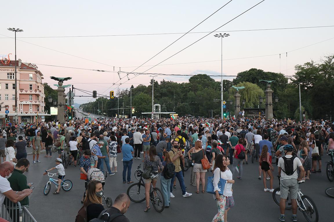 <p>Протест, шествие и блокада в София</p>