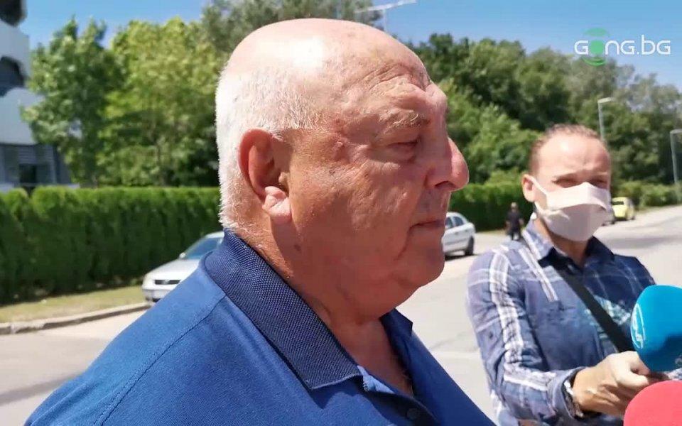 Президентът на Славия и член на Изпълкома Венцеслав Стефанов говори