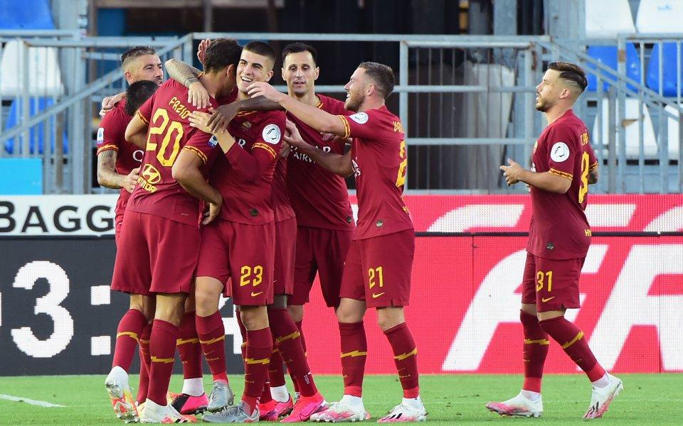 Тимът на Рома успя да запише гръма победа като гост