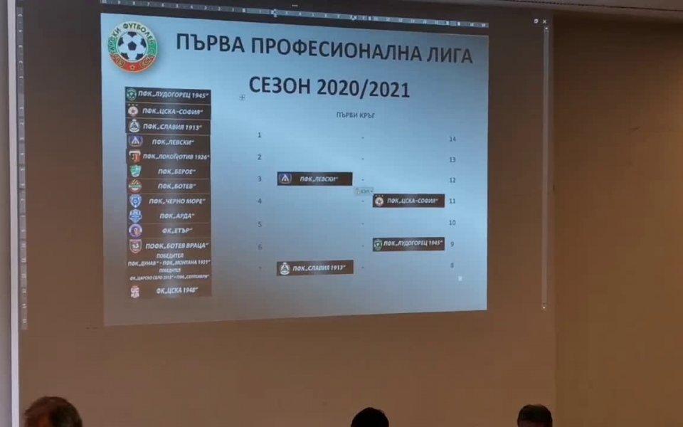 Жребият за сезон 2020/2021-а година в efbet Лига вече е