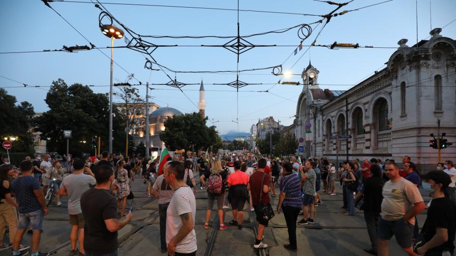 Протест и блокада на възлови кръстовища в София