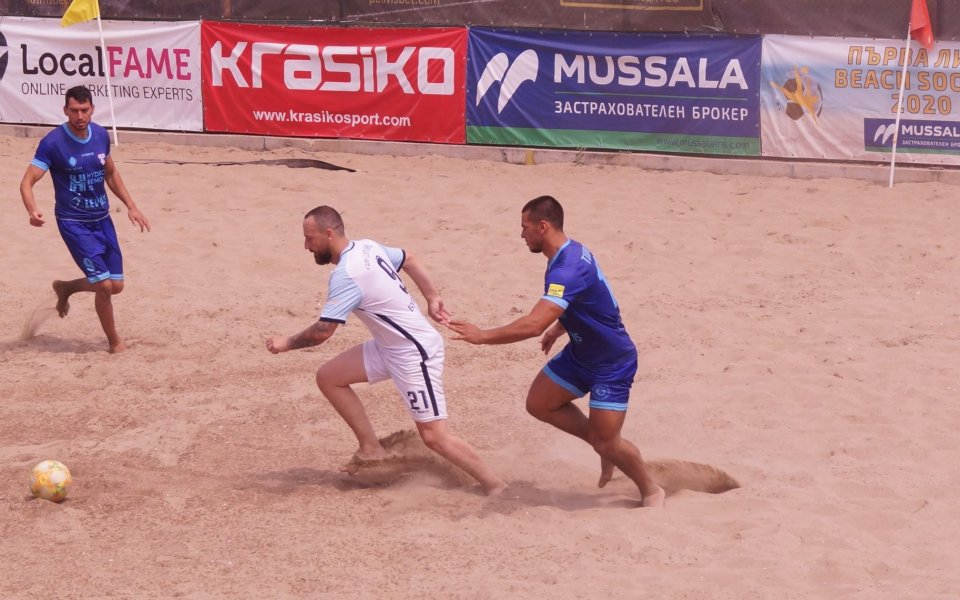 Шампионът на страната по плажен футбол МФК Спартак Варна записа