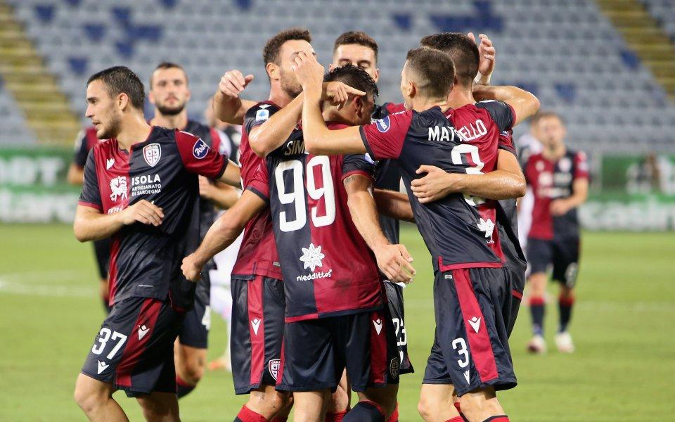 """Каляри победи Ювентус с 2:0 на """"Сардиня Арена"""". В мач"""