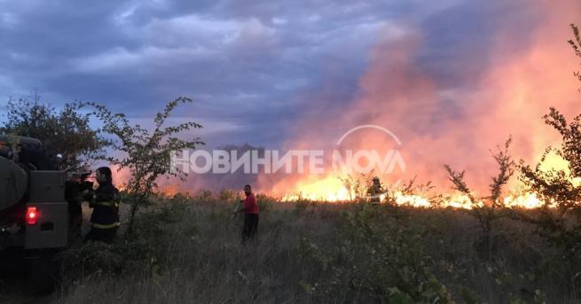 България Пожари край Любимец и в Казанлъшко В близост до