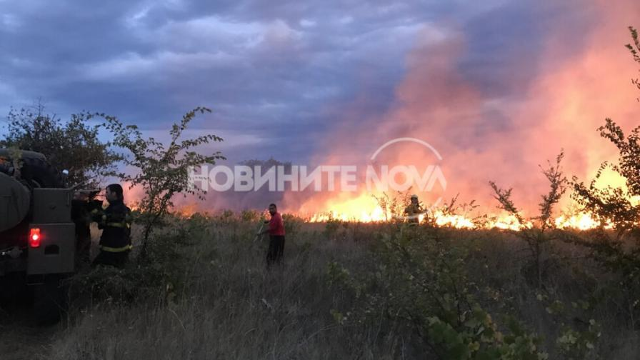 Пожарът край село Горно Черковище