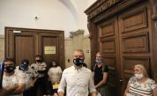 """Привърженици на партия """"Възраждане"""" пред кабинета на главния прокурор в Съдебната палата"""