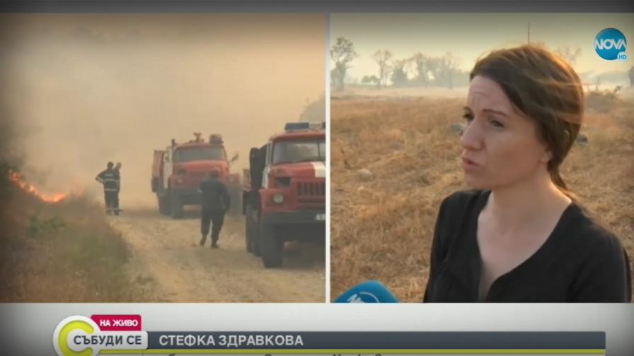 Спасиха от огъня евакуираното село в Хасковско