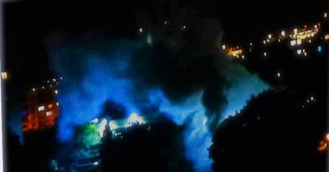 България Гърмежи и гъст пушек в софийския квартал