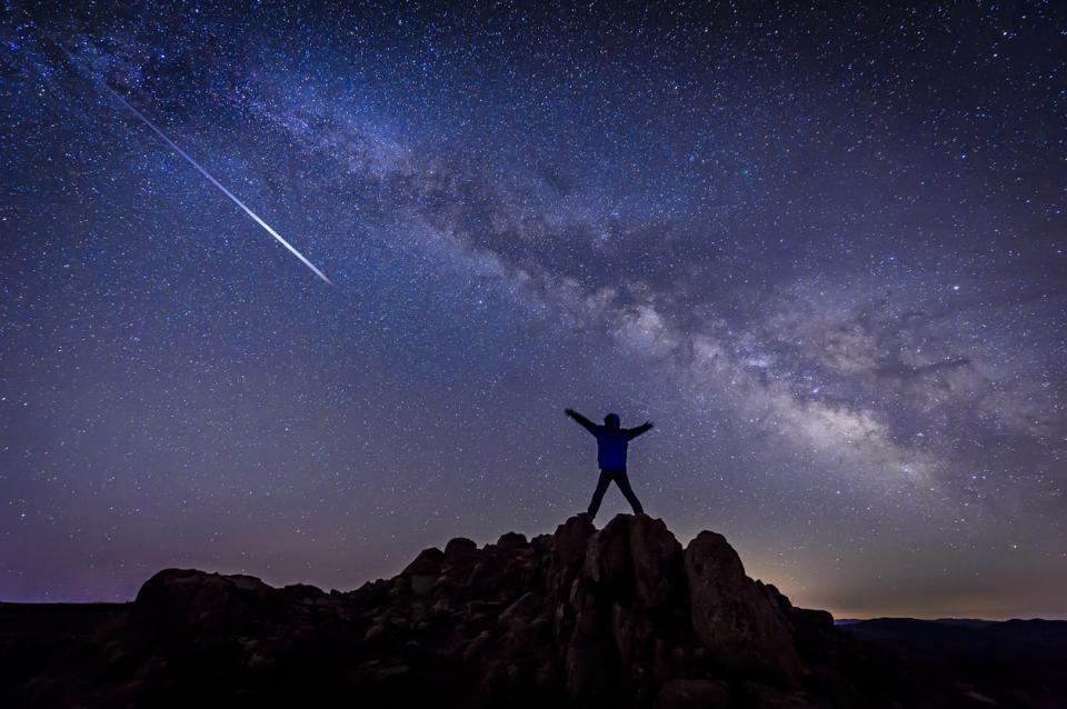 небе падащи звезди звезда