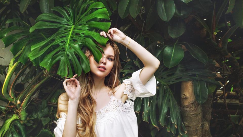 жена лято листо природа