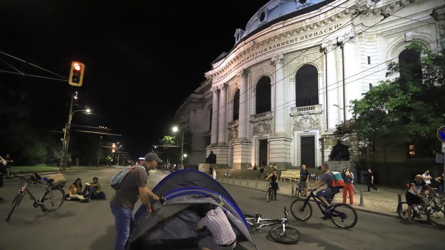 София осъмна с три блокирани кръстовища
