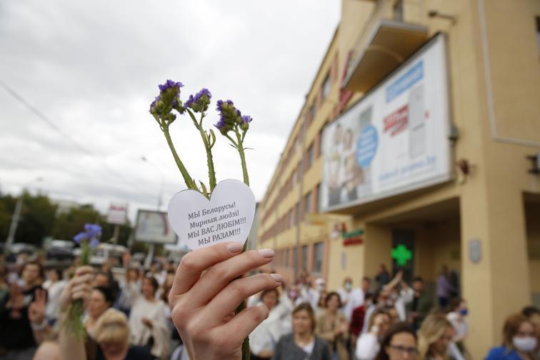 Минск протест жени