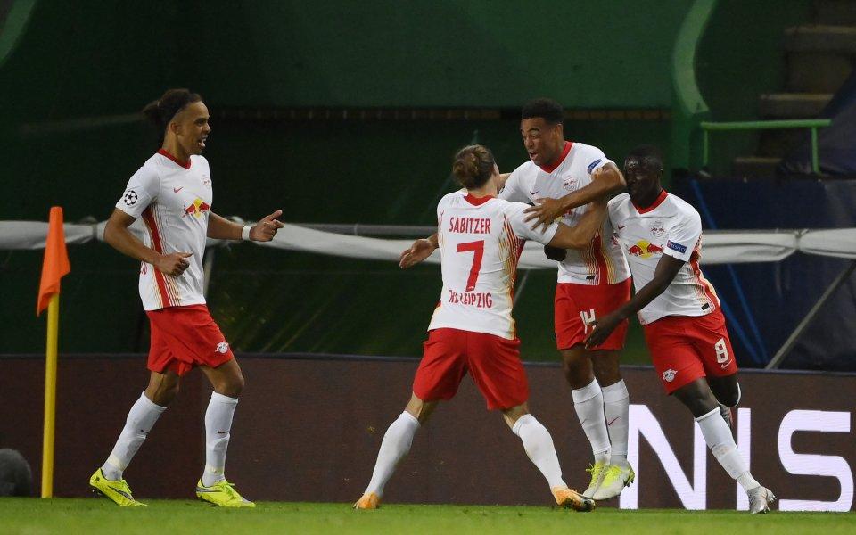 РБ Лайпциг победи с 2:1 Атлетико Мадрид в 1/4-финал в