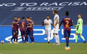 НА ЖИВО: Барселона - Байерн Мюнхен, бърза размяна на голове