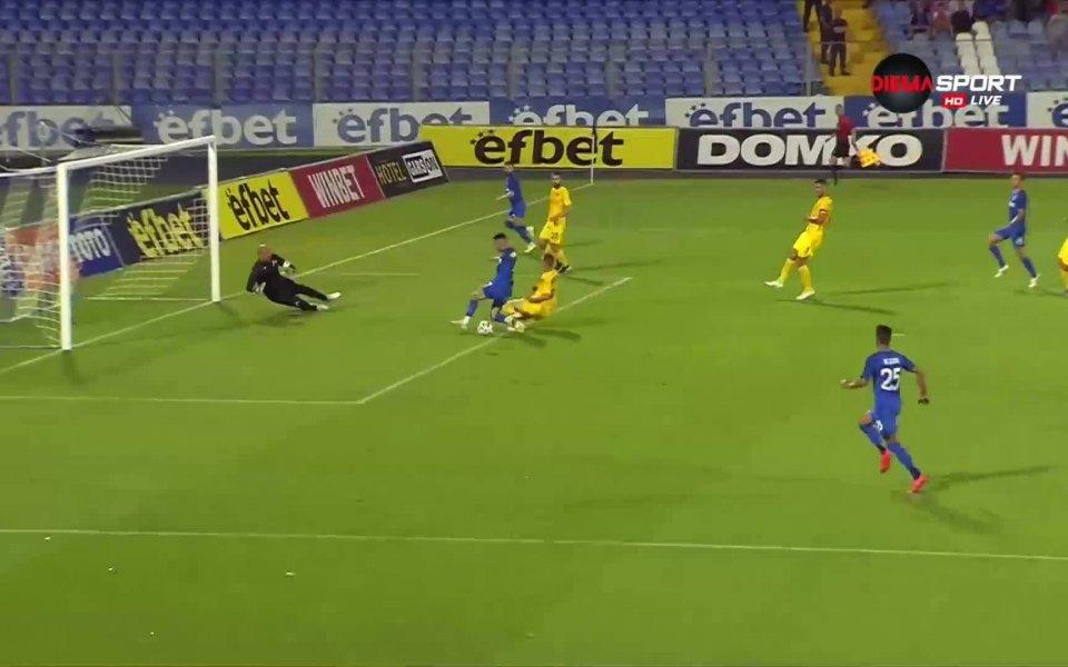 Иван Коконов пропусна в 33-ата минута да удвои резултата срещу