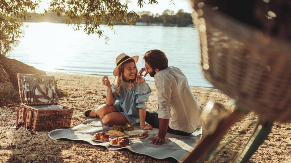 любов лято двойка връзка романтика пикник природа