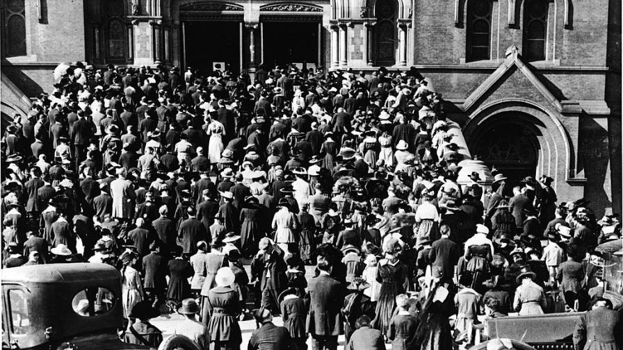 Молитва за здраве по време на пандемията от испански грип