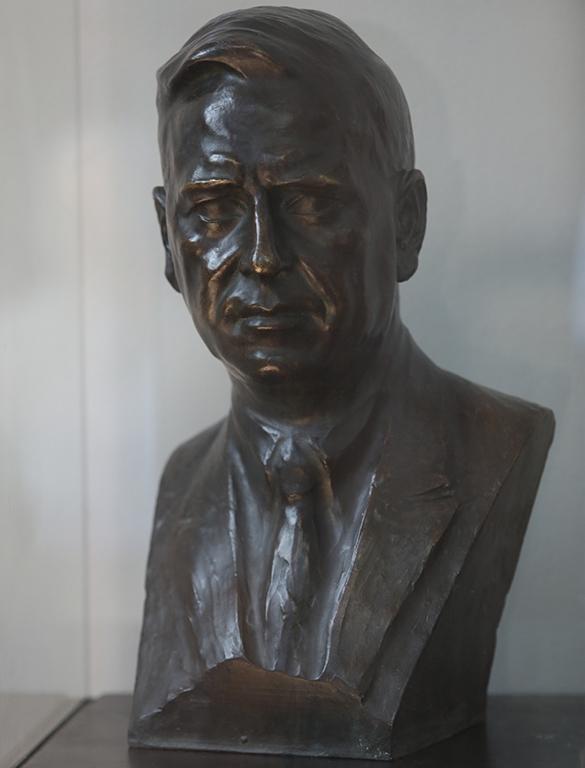 <p>Андрей Николов (1878-1959), Бюст на Кръстю Раковски, 1922, бронз</p>  <p>Andrey Nikolov (1878-1959), Bust of Krastyu Rakovski, 1922, bronze</p>