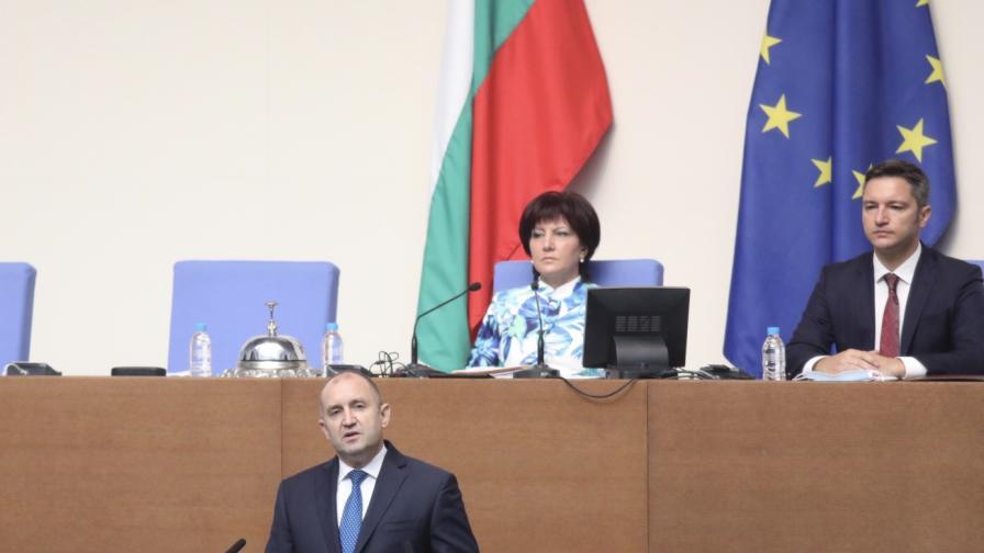 Радев: Няма друг път за излизане от блокажа освен оставката на кабинета