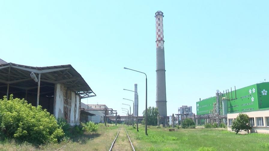 """Пожар в химическия комбинат """"Свилоза"""" в Свищов"""
