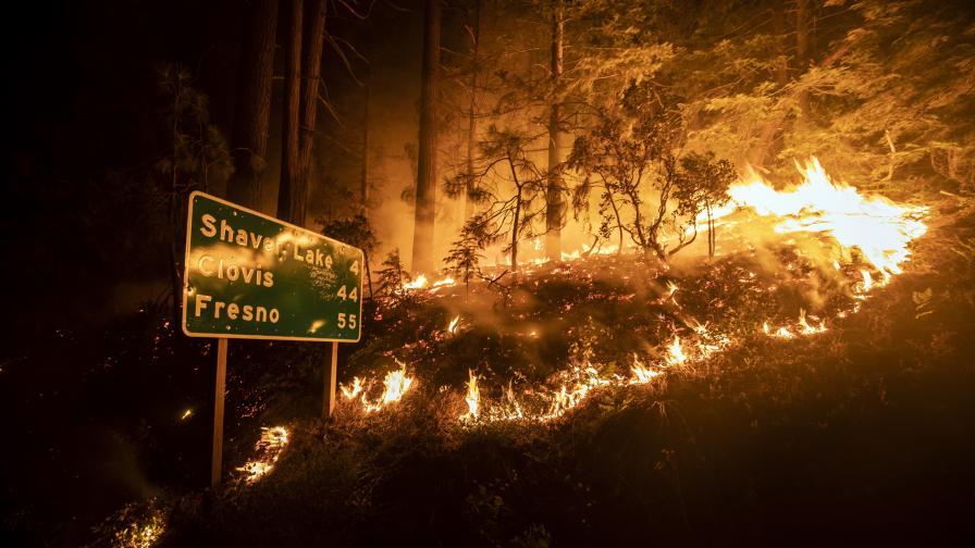 Невиждани пожари в САЩ унищожават градове, има и жертви