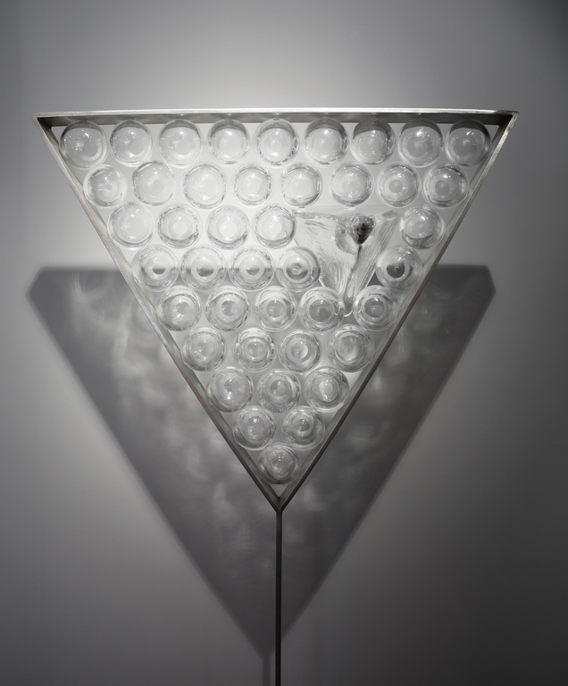 <p>Габриела Тончева Eridanus - издухано стъкло, плоско стъкло и метал, blown glass, float glass and metal</p>