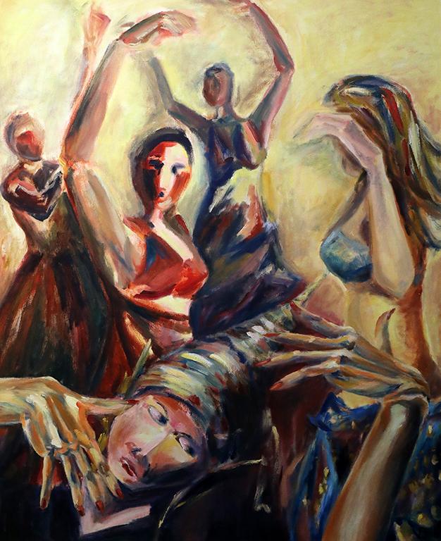 <p>Танцьорки на Източни танци /м.б.пл./</p>