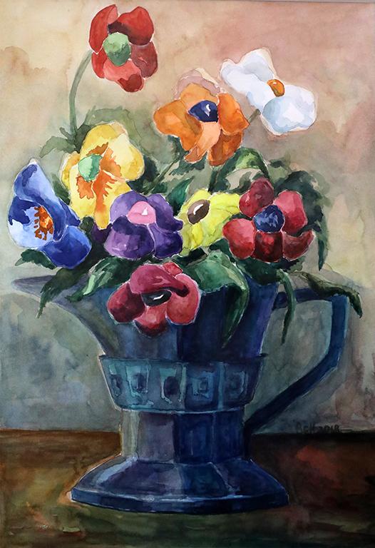 <p>Цветя в Старинна Ваза /акварел/</p>