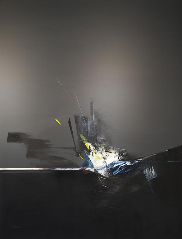 <p>В изложбата Деля Чаушева представя маслени живописни платна от серията &bdquo;Гравитационен тласък и серия рисунки с пастел и въглен, &bdquo;Пътуваща в сенките&rdquo;. Гравитационен тласък I</p>
