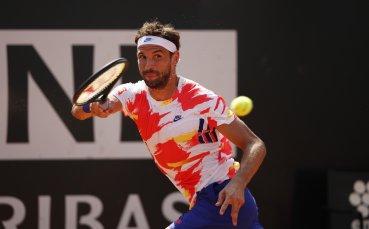 Григор взе най-трудния си тест в Рим и от 5-ия си мачбол се класира на 1/4-финал