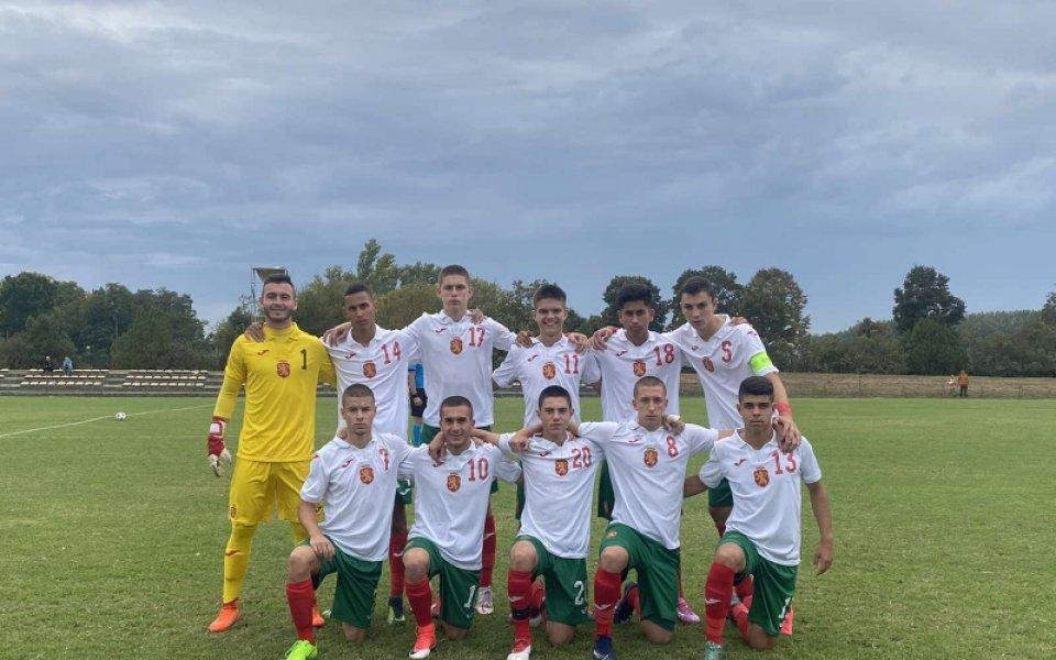 В равностоен двубой юношеският национален отбор на България до 16