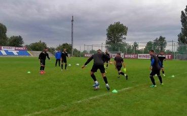 Черно море тренира преди срещата с Царско село