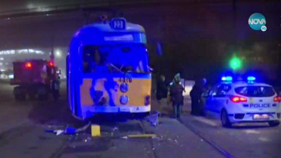 Тежка катастрофа с трамвай в София